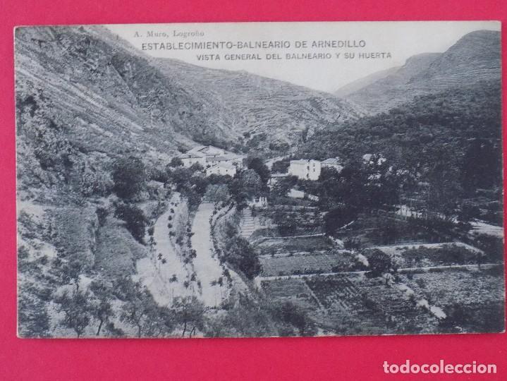 ANTIGUA POSTAL ESTABLECIMIENTO BALNEARIO DE ARNEDILLO (LOGROÑO)- VISTA GENERAL Y SU HUERTA... R-6996 (Postales - España - La Rioja Antigua (hasta 1939))