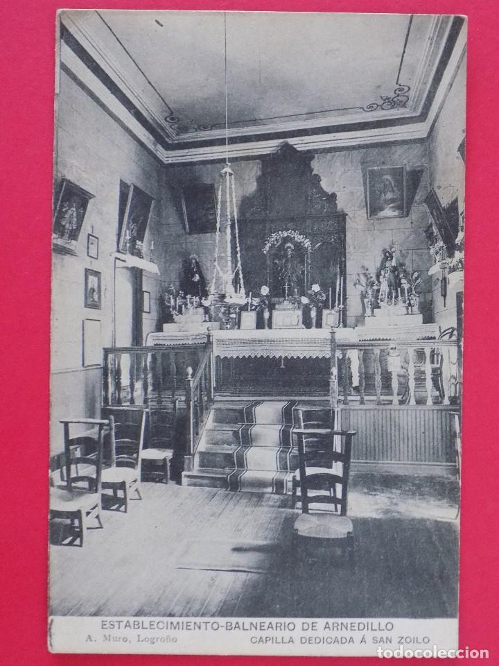 ANTIGUA POSTAL ESTABLECIMIENTO BALNEARIO ARNEDILLO (LOGROÑO)-CAPILLA DEDICADA A SAN ZOILO .. R-7001 (Postales - España - La Rioja Antigua (hasta 1939))