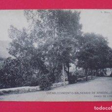 Postales: ANTIGUA POSTAL ESTABLECIMIENTO BALNEARIO ARNEDILLO (LOGROÑO)-PASEO DE LOS TILOS .. R-7002. Lote 96177591