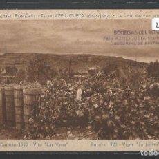 Postales: FUENMAYOR - BODEGAS DEL ROMERAL - COSECHA 1923 - VIÑA LAS VERAS - P22596. Lote 96681423