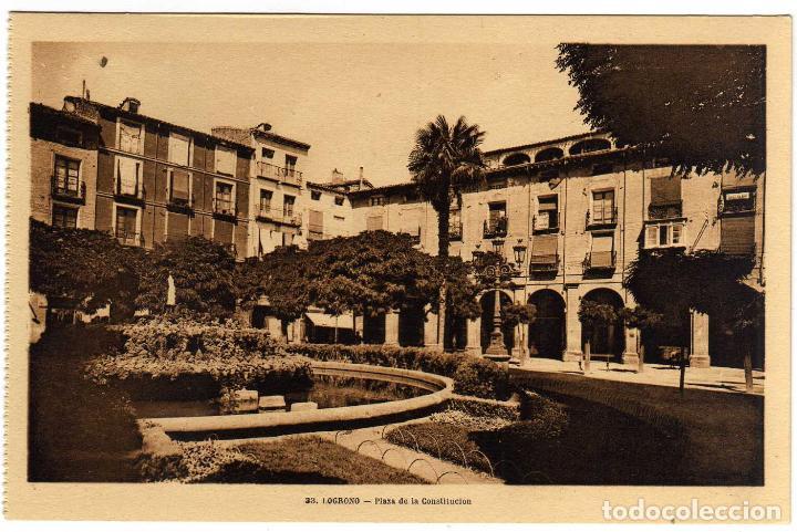 BONITA POSTAL - LOGROÑO - PLAZA DE LA CONSTITUCION (Postales - España - La Rioja Antigua (hasta 1939))