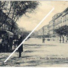 Postales: MAGNIFICA POSTAL - LOGROÑO - MURO DE BRETON DE LOS HERREROS - . Lote 97418855