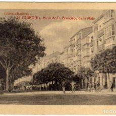 Postales: BONITA POSTAL - LOGROÑO - MURO DE D. FRANCISCO DE LA MATA . Lote 97701283