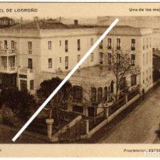 Postales: BONITA POSTAL - GRAND HOTEL DE LOGROÑO - VISTA DEL HOTEL . Lote 97708543