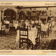 Postales: BONITA POSTAL - GRAND HOTEL DE LOGROÑO - COMEDOR RENACIMIENTO ESPAÑOL. Lote 97710275