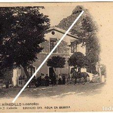 Postales: MAGNIFICA POSTAL - TERMAS DE ARNEDILLO (LOGROÑO) - EDIFICIO DEL AGUA EN BEBIDA - AMBIENTADA . Lote 97714463