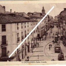 Postales: PRECIOSA POSTAL - CALAHORRA (LA RIOJA) - CALLE GRANDE - AMBIENTADA - COCHES DE EPOCA . Lote 97722519