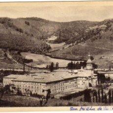 Postales: BONITA POSTAL DE SAN MILLAN DE LA COGOLLA (LA RIOJA) VISTA S.E. DEL MONASTERIO - AL FONDO SUSO. Lote 97731495