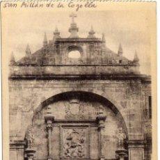 Postales: BONITA POSTAL - SAN MILLAN DE LA COGOLLA (LA RIOJA) - FACHADA PRINCIPAL DEL MONASTERIO. Lote 97732103