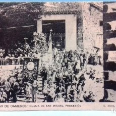 Postales: POSTAL ORTIGOSA DE CAMEROS, IGLESIA DE SAN MIGUEL, PROCESIÓN. A. MURO, LOGROÑO. SIN CIRCULAR.. Lote 101497107