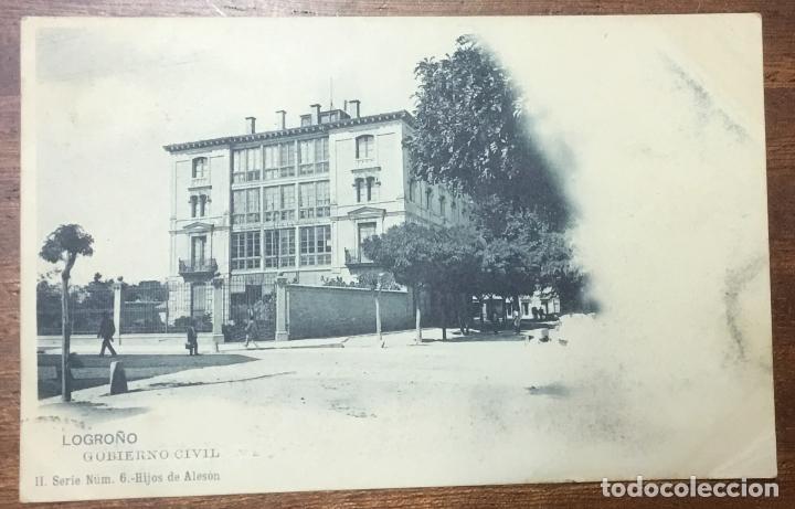 LOGROÑO. GOBIERNO CIVIL. (ED. HIJOS DE ALESON, II SERIE Nº 6) (Postales - España - La Rioja Antigua (hasta 1939))