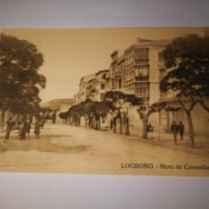Postales: LOGROÑO. MURO DE CARMELITAS. SIN CIRCULAR. Lote 105686204