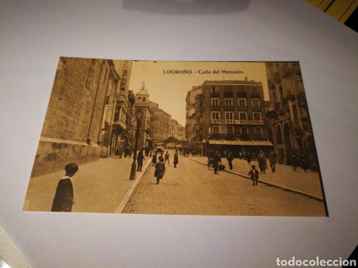 LOGROÑO. CALLE DEL MERCADO. SIN CIRCULAR (Postales - España - La Rioja Antigua (hasta 1939))