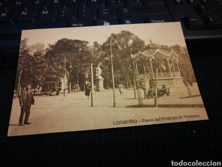 LOGROÑO. PASEO DEL PRÍNCIPE DE VERGARA. SIN CIRCULAR (Postales - España - La Rioja Antigua (hasta 1939))