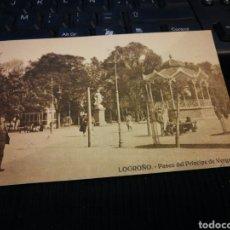 Postales: LOGROÑO. PASEO DEL PRÍNCIPE DE VERGARA. SIN CIRCULAR. Lote 105687494