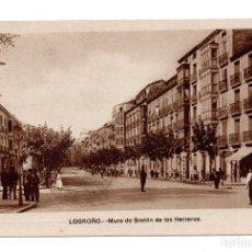 Postales: LOGROÑO MURO BRETON DE LOS HERREROS. EDICIONES M. ARRIBAS. Lote 107978495