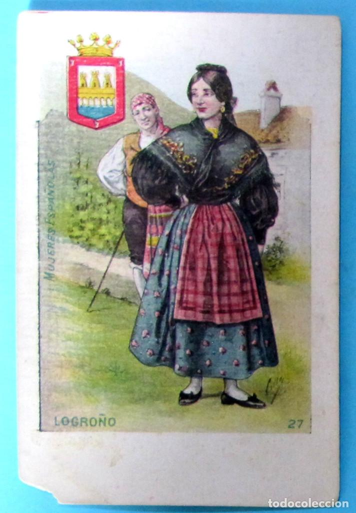 MUJERES ESPAÑOLAS. LA RIOJA, LOGROÑO, Nº 27. EDITORIAL SATURNINO CALLEJA. ANTERIOR A 1906. (Postales - España - La Rioja Antigua (hasta 1939))