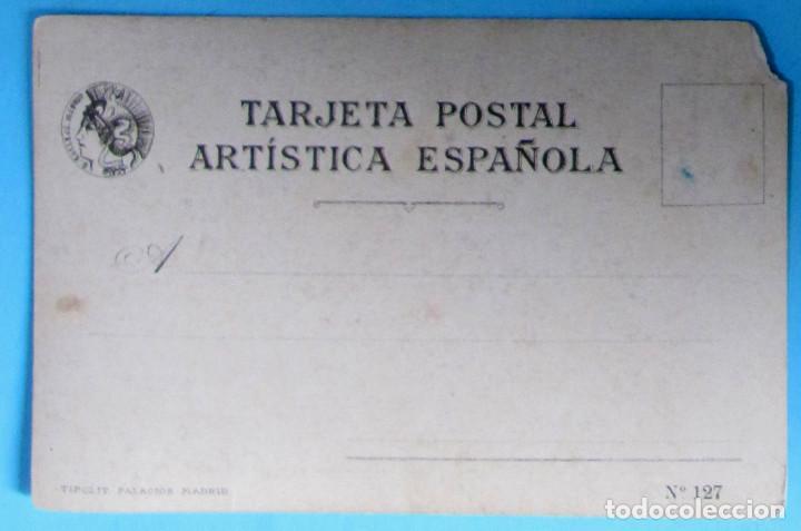Postales: MUJERES ESPAÑOLAS. LA RIOJA, LOGROÑO, Nº 27. EDITORIAL SATURNINO CALLEJA. ANTERIOR A 1906. - Foto 2 - 107981759