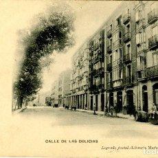Postales: LOGROÑO. CALLE DE LAS DELICIAS. Lote 109078255