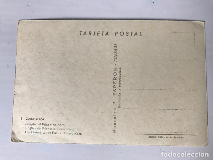 Postales: POSTAL NUEVA - ZARAGOZA - TEMPLO DEL PILAR Y RIO EBRO - Foto 2 - 110427059
