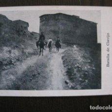 Postales: BATALLA DE CLAVIJO - ENTRADA AL PUEBLO Y MONTE LATURCE - VER FOTOS - (51.634). Lote 110485923
