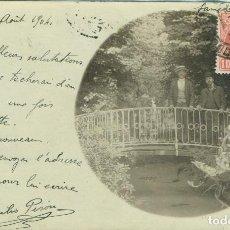 Postales: HARO. ALCALDE EMILIO PISÓN. CIRCULADA A FRANCIA EN 1904. FOTOGRÁFICA. PIEZA ÚNICA.. Lote 112538487