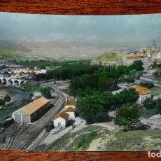 Postales: FOTO POSTAL DE HARO, VISTA ALEGRE, FERROCARRIL Y ESTACION, ED. SICILIA 6, SIN CIRCULAR. Lote 114377543
