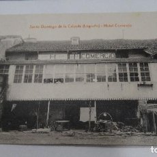Postales: POSTAL ANTIGUA DE SANTO DOMINGO DE LA CALZADA DE LA RIOJA- HOTEL COMERCIO, CON SOBRE DEL MISMO HOTEL. Lote 202421176