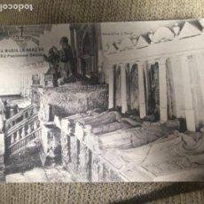 Postales: ANTIGUA POSTAL SANTA MARÍA LA REAL DE NAJERA PANTEONES REALES - MONTALVO Y SANZ. Lote 116439195