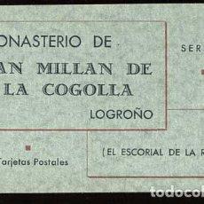 Postales: LOGROÑO MONASTERIO DE SAN MILLAN DE LA COGOLLA BLOC COMPLETO 10 POSTALES FOTOTIPIA HAUSER Y MENET. Lote 120257323