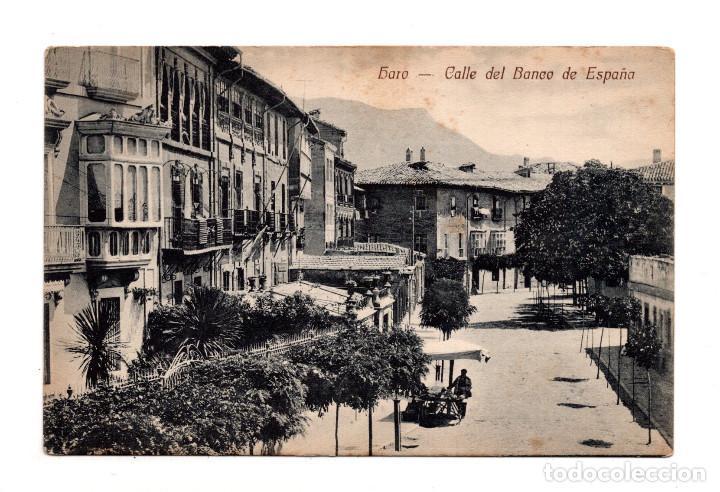 HARO. LA RIOJA.- CALLE DEL BANCO DE ESPAÑA (Postales - España - La Rioja Antigua (hasta 1939))