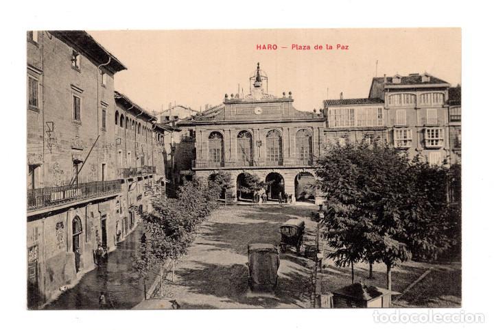 HARO. LA RIOJA.- PLAZA DE LA PAZ. (Postales - España - La Rioja Antigua (hasta 1939))