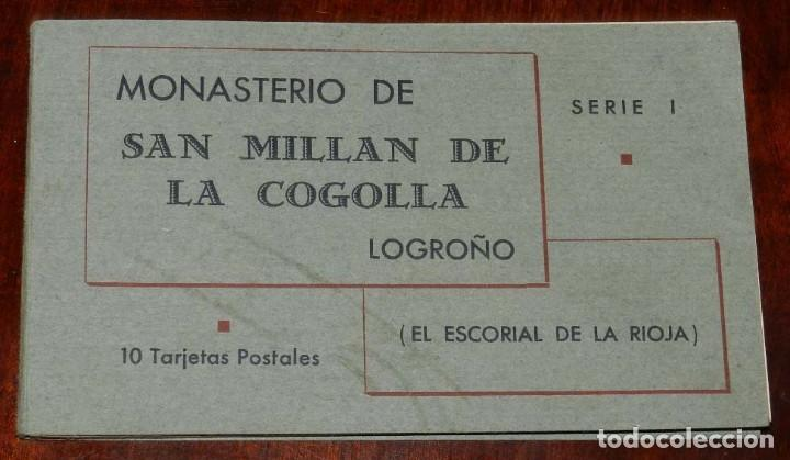 SAN MILLAN DE LA COGOLLA (LOGROÑO) CUADERNILLO DE 1O POSTALES DEL MONASTERIO (EL ESCORIAL DE LA RIOJ (Postales - España - La Rioja Antigua (hasta 1939))