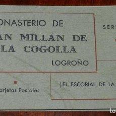Postales: SAN MILLAN DE LA COGOLLA (LOGROÑO) CUADERNILLO DE 1O POSTALES DEL MONASTERIO (EL ESCORIAL DE LA RIOJ. Lote 122581247
