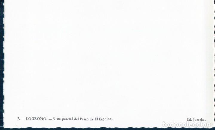 Postales: POSTAL LOGROÑO 7 - VISTA PARCIAL DEL PASEO DE EL ESPOLON - JOSECHU - Foto 2 - 127261687