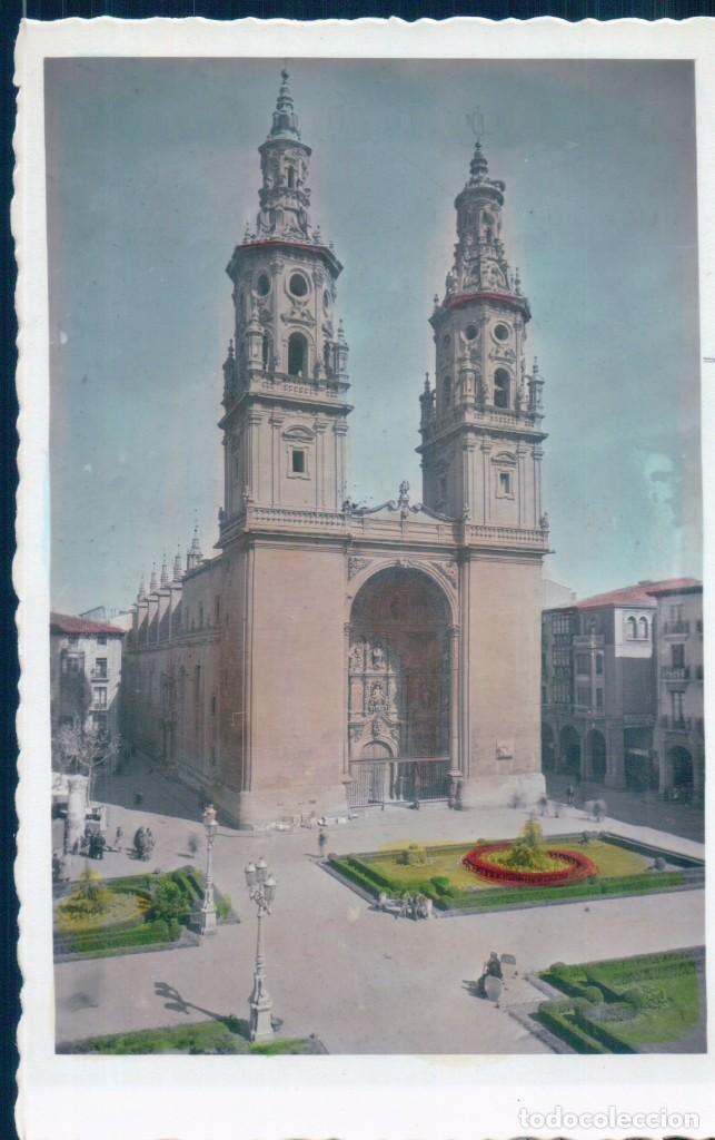 POSTAL LOGROÑO 26 - IGLESIA STA MARIA DE LA REDONDA Y PL DE LOS HEROES ALCAZAR DE TOLEDO - JOSECHU (Postales - España - La Rioja Antigua (hasta 1939))