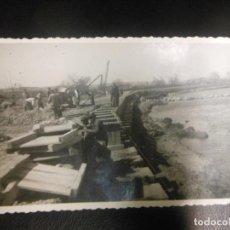 Postales: TARJETA POSTAL FOTOGRAFICA DEFENSAS CALAHORRA 1946 LA RIOJA - CONSTRUCCIONES OLIDEN ZARAGOZA. Lote 127663743