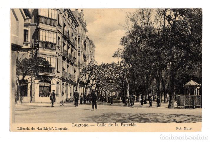 LOGROÑO.- CALLE DE LA ESTACIÓN. (Postales - España - La Rioja Antigua (hasta 1939))