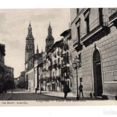 Postales: LOGROÑO.- CALLE DEL MERCADO. Lote 127972035
