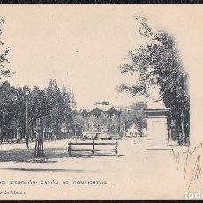 Postales: POSTALES - LOGROÑO. PASEO DEL ESPOLÓN. SALÓN DE CONCIERTOS.. Lote 128364039