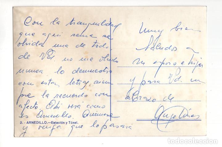 Postales: ARNEDILLO (LOGROÑO).- ESTACIÓN Y TÚNEL - Foto 2 - 128562563