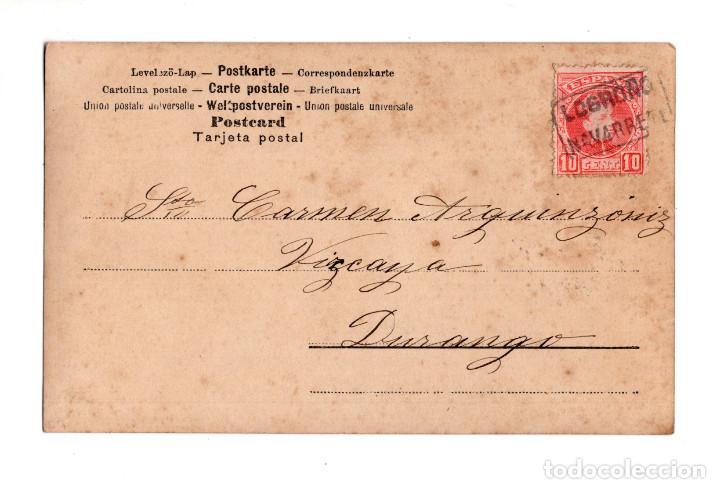 RARA CARTERÍA NAVARRETE LOGROÑO (Postales - España - La Rioja Antigua (hasta 1939))