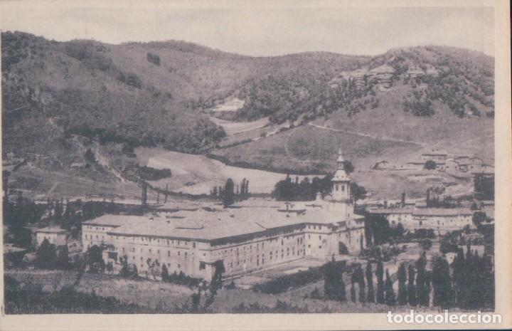 POSTAL SAN MILLAN DE LA COGOLLA 2 - VISTA S E DEL MONASTERIO - AL FONDO SUSO - HAUSER Y MENET (Postales - España - La Rioja Antigua (hasta 1939))