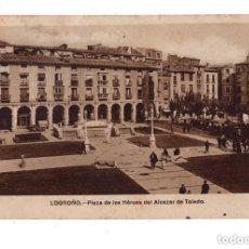 Postales: LOGROÑO.- PLAZA DE LOS HEROES DEL ALCAZAR. Lote 132037482