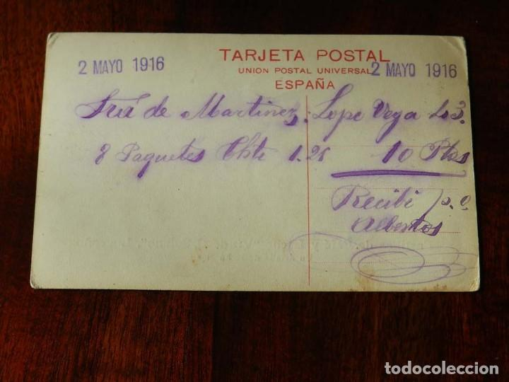 Postales: ANTIGUA POSTAL DE LOGROÑO, CON PUBLICIDAD DE PASTILLAS DE CAFE Y LECHE, VIUDA DE SOLANO, LOGROÑO, U - Foto 2 - 132812830