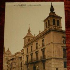 Postales: LOGROÑO (LA RIOJA), AYUNTAMIENTO, L. ROISIN 4, SIN CIRCULAR. Lote 133553734