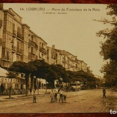 Postales: LOGROÑO (LA RIOJA), MURO DE FRANCISCO DE LA MATA, L. ROISIN 14, SIN CIRCULAR. Lote 133553878