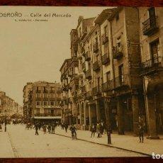 Postales: LOGROÑO (LA RIOJA), CALLE DEL MERCADO, L. ROISIN 15, SIN CIRCULAR. Lote 133554058