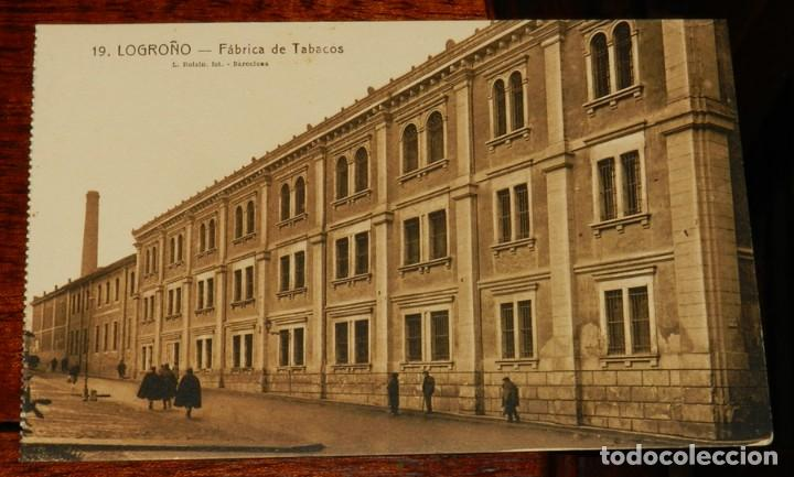 LOGROÑO (LA RIOJA), FABRICA DE TABACOS, L. ROISIN 19, SIN CIRCULAR (Postales - España - La Rioja Antigua (hasta 1939))
