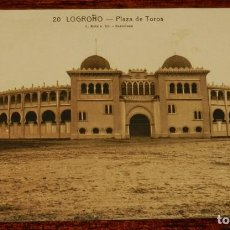 Postales: LOGROÑO (LA RIOJA), PLAZA DE TOROS, L. ROISIN 20, SIN CIRCULAR. Lote 133554654